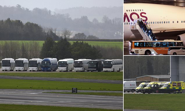 Evacuation flight carrying 32 British and European tourists lands