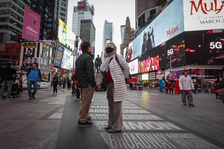 Big city, big worry: New Yorkers fret as bustling city slows
