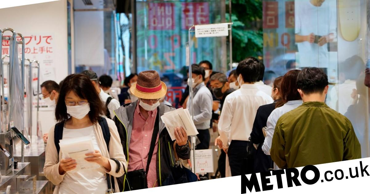 Uniqlo site crashes and Japan stores see overnight queues for AIRism face masks