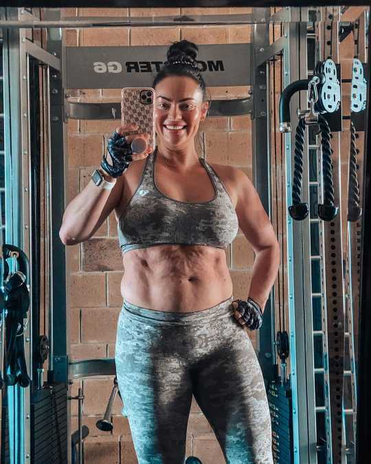 Trainer Emily Skye Shares Postpartum Gym Selfie 10 Weeks After Son's Birth: 'I'm Getting There'