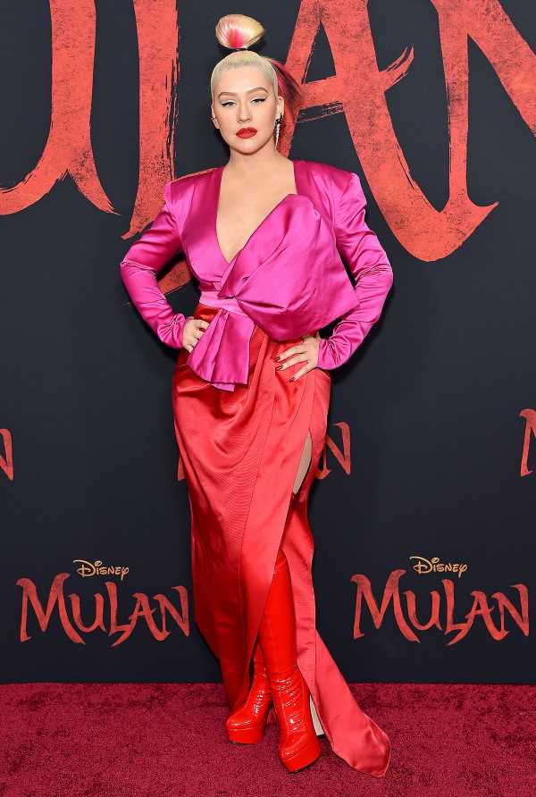 Christina Aguilera Gets 'Cozy' with Her Kids to Watch New Mulan: 'A Beautiful Thing to Share'