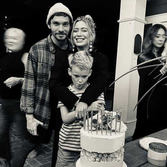 Hilary Duff Shares Festive Birthday Photo from Celebration with Husband Matthew Koma and Son Luca