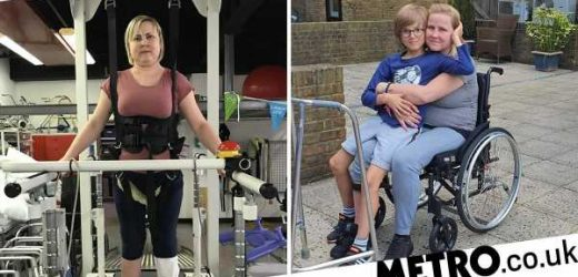 Mum who thought she just had a tummy ache wakes up paralysed from the waist down