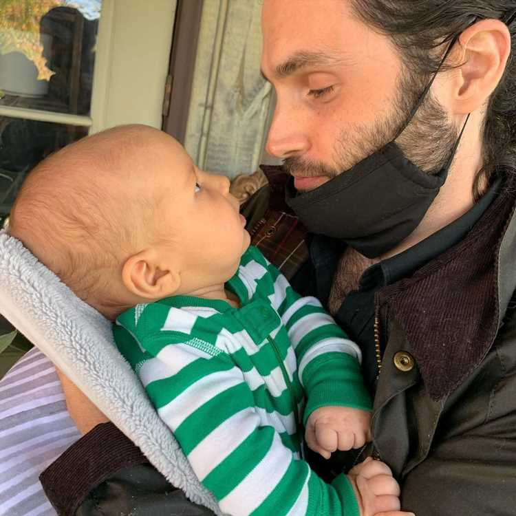 Proud Papa! Penn Badgley Smiles with His Baby Son in Sweet Photo Shared by Wife Domino Kirke