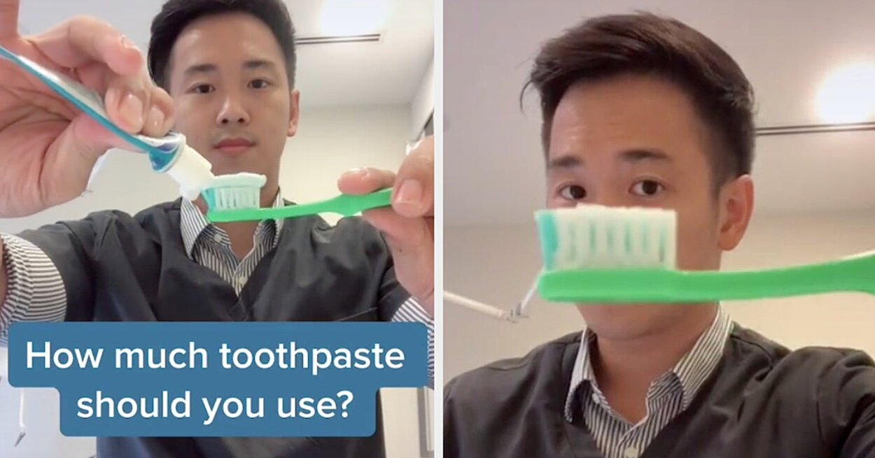 You're Probably Using Way More Toothpaste Than You Really Need, According to This Dentist