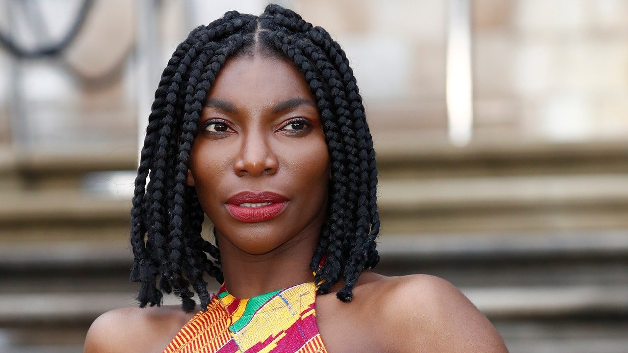 Michaela Coel Dyed Her Brows Purple to Match Her Buzz Cut
