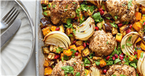 This delicious chicken traybake is perfect for a post-workout dinner