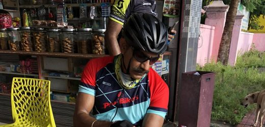 Railway cop pedals 600 km in 36 hours to promote cycling among the youth