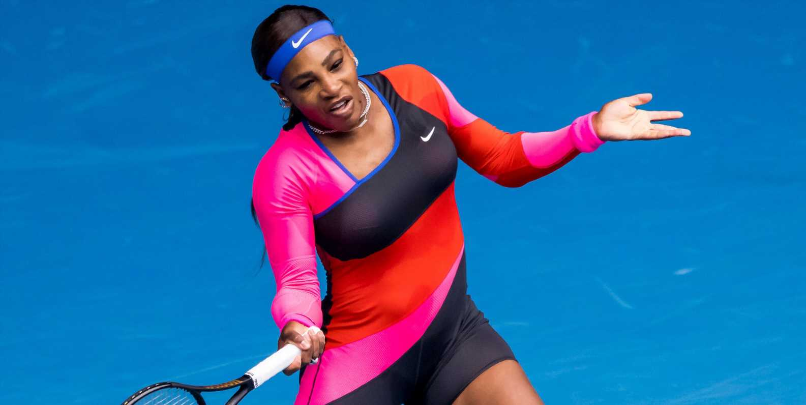 Serena Williams Honors Olympic Track Star Flo-Jo With One-Legged Catsuit At The Australian Open
